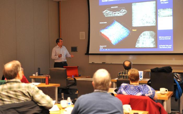 Eric Betzig presenting
