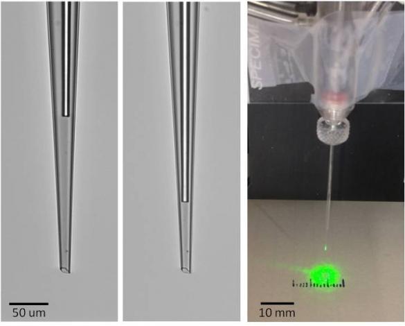 optrode etched fiber in field electrode 2