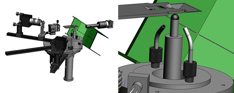 3D CAD design of the behavioral set-up for closed-loop olfactory behaviors