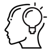 Lightbulb moment icon